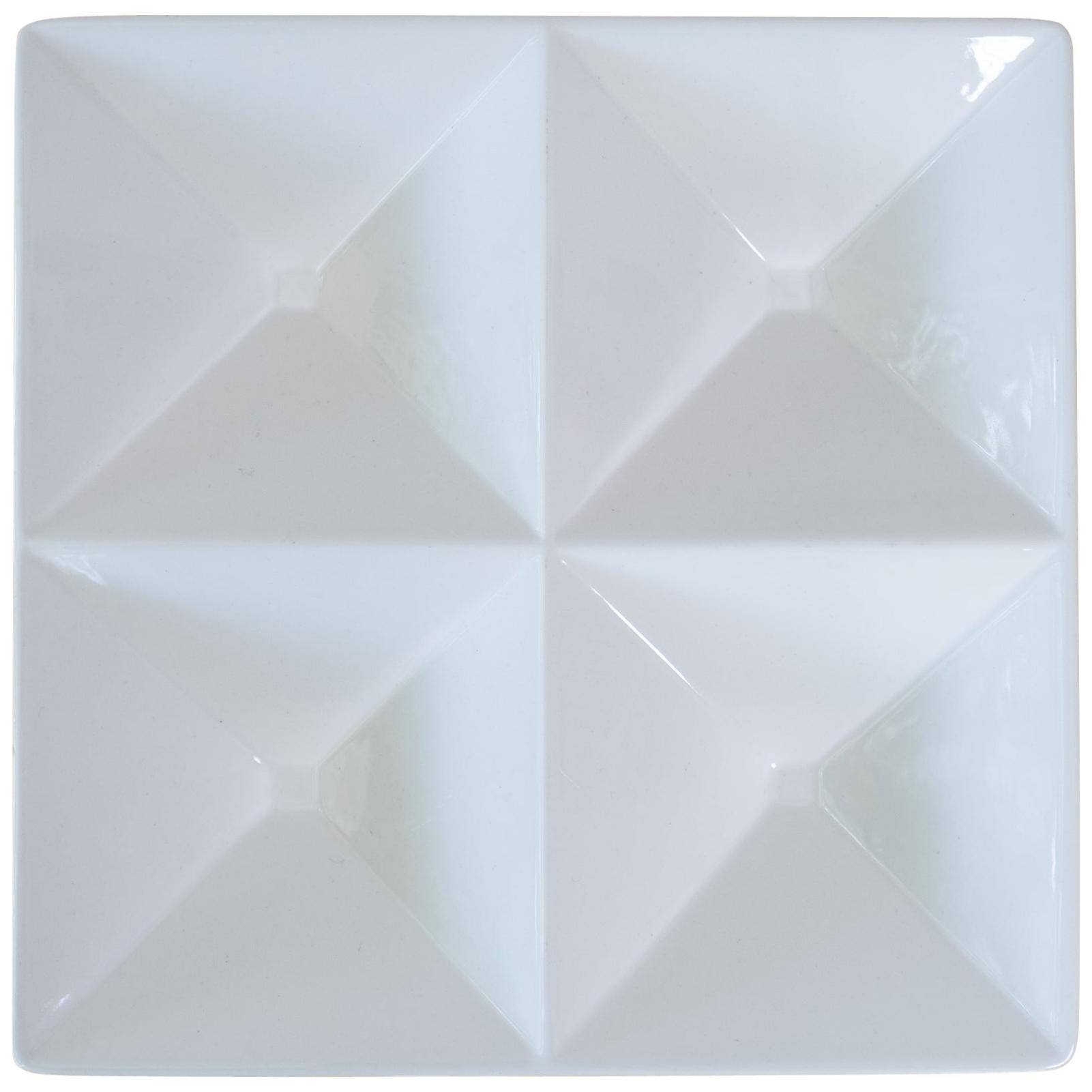 Origami Form Ceramic Tray by Kaj Franck for Arabia