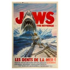 Origianal 1987 Film Poster Jaws 4 The Revenge from Begium