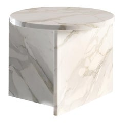 Origin Contemporary Side Table in Marble by Artefatto Design Studio