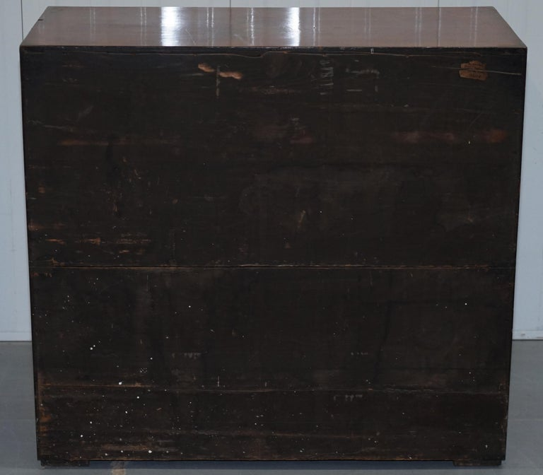 Original 1890 Army & Navy C.S.L Stamped Campaign Chest of Drawers Including Desk For Sale 4