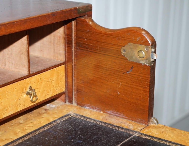 Original 1890 Army & Navy C.S.L Stamped Campaign Chest of Drawers Including Desk For Sale 8