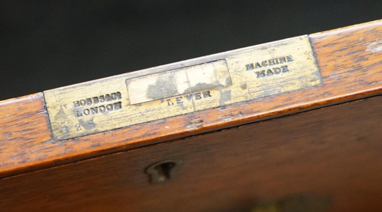 Original 1890 Army & Navy C.S.L Stamped Campaign Chest of Drawers Including Desk For Sale 11
