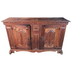 Original 18th Century Baroque Chest of Drawers Signed 1750