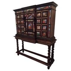 Original 18th Century Monumental Cabinet on Stand / Italian Bargueno / European