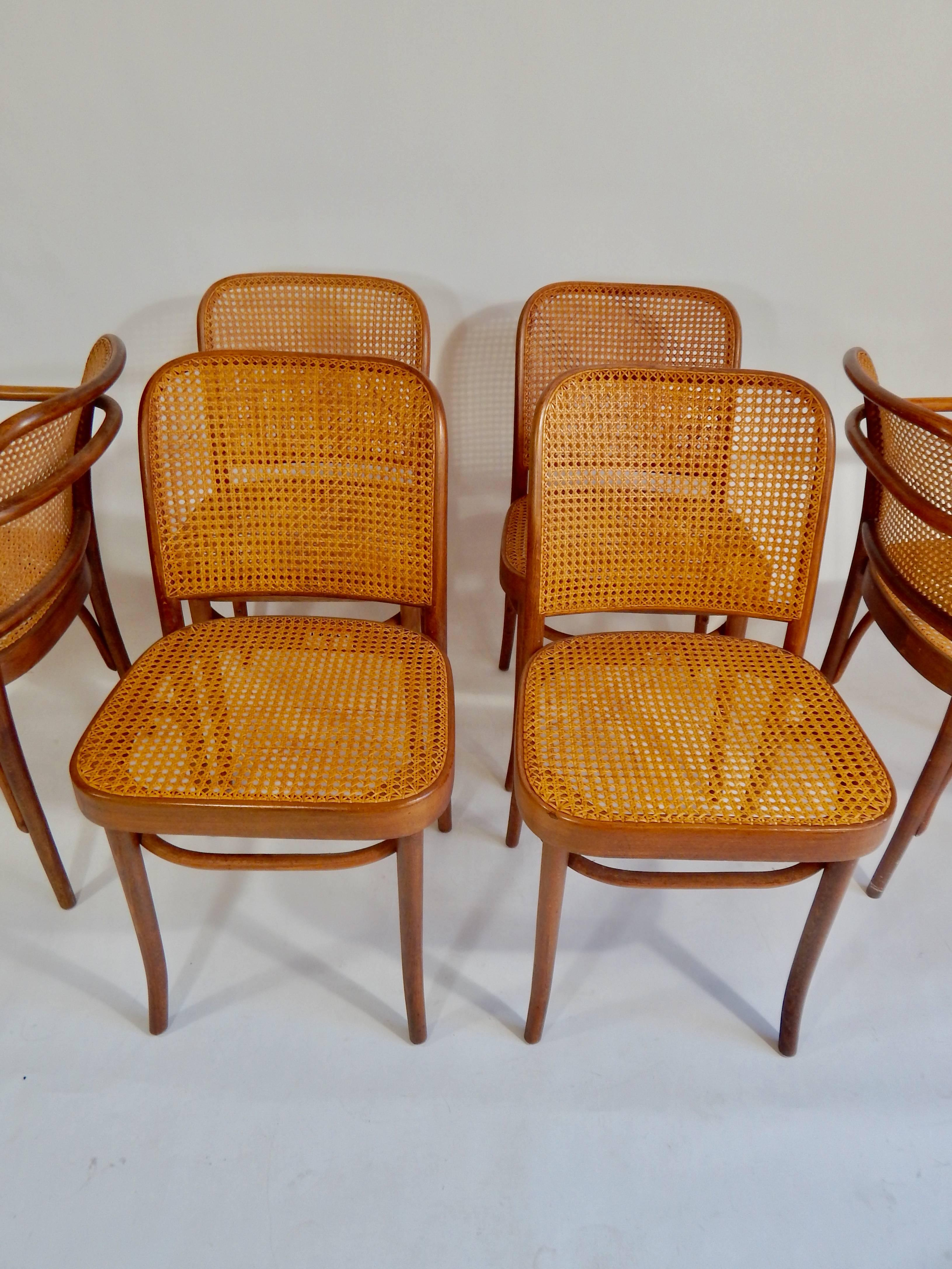The Original 1920s Version Of These Josef Hoffman For Thonet Designed Chairs.  Four Side Chairs