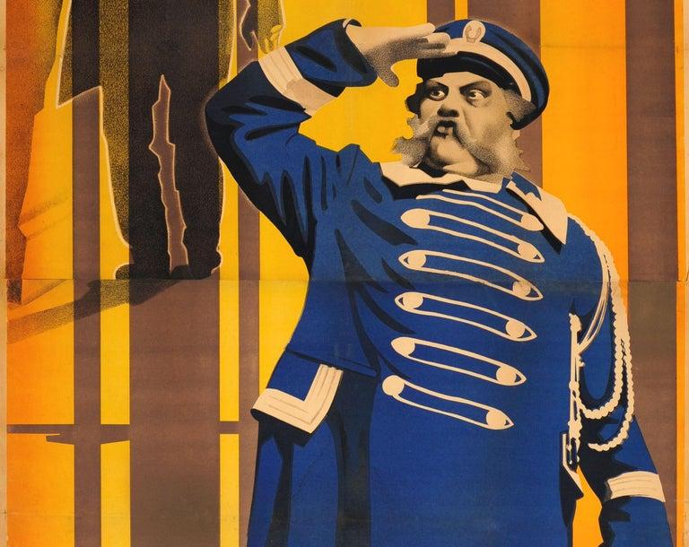 Russian Original 1927 Constructivist Soviet Movie Poster Der Letzte Mann The Last Laugh For Sale