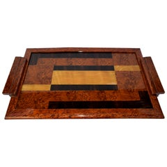 Original 1930s Modernist Reverse Painted Drinks Tray