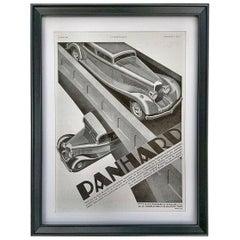 Original 1933 Art Deco Car Advert