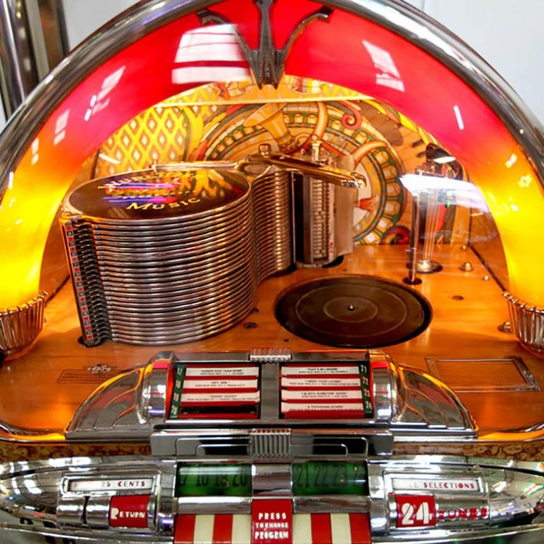 American Original 1948 Wurlitzer 1100 Vinyl Jukebox For Sale