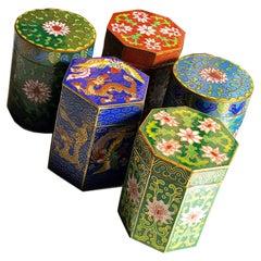 Circa 1949 Gu Yi Zhai Beijing Cloisonné Boxes Collection