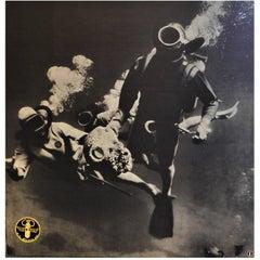 Original 1950s Aqua-Lung U.S. Divers Company Scuba Diving Poster