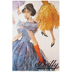 Original 1950s Bally Shoes Advertising Poster Fashion