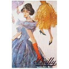 Original 1950s Bally Shoes Advertising Poster Fashion
