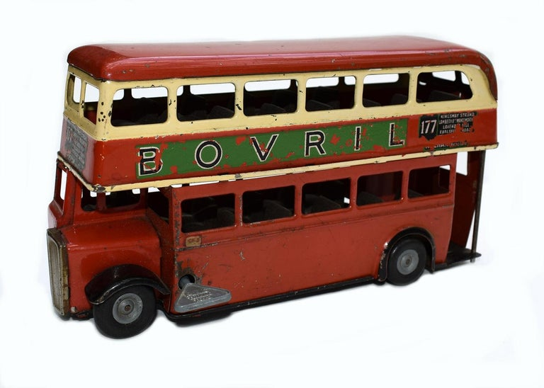 Original 1950s Double Decker London Toy Bus by Triang For Sale 4