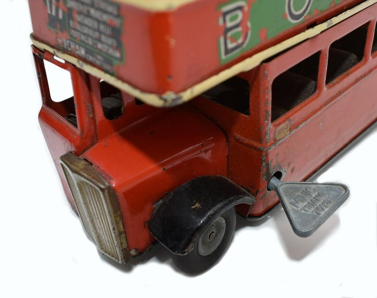 Original 1950s Double Decker London Toy Bus by Triang For Sale 5