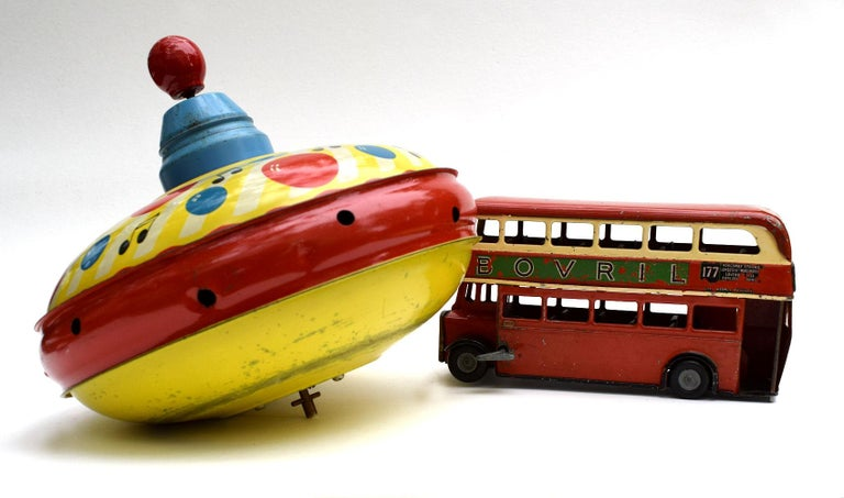 Original 1950s Double Decker London Toy Bus by Triang For Sale 6