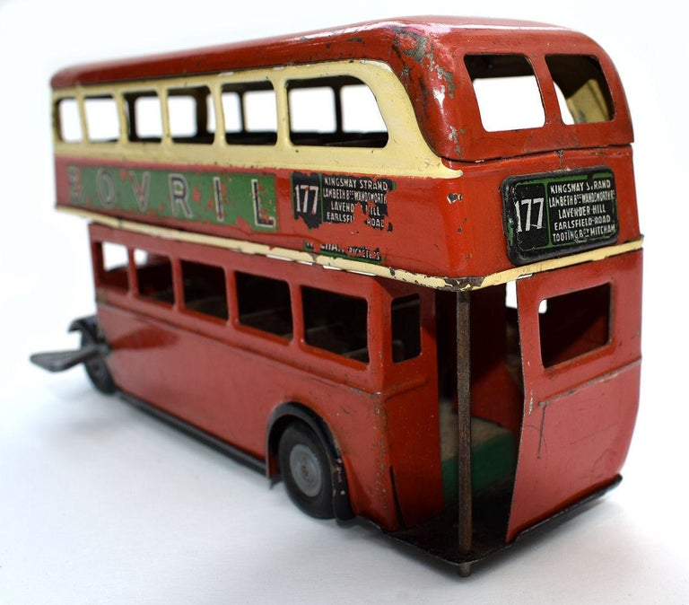 20th Century Original 1950s Double Decker London Toy Bus by Triang For Sale