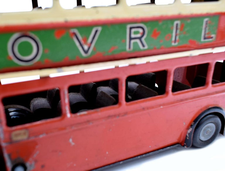 Original 1950s Double Decker London Toy Bus by Triang For Sale 1