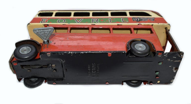 Original 1950s Double Decker London Toy Bus by Triang For Sale 2