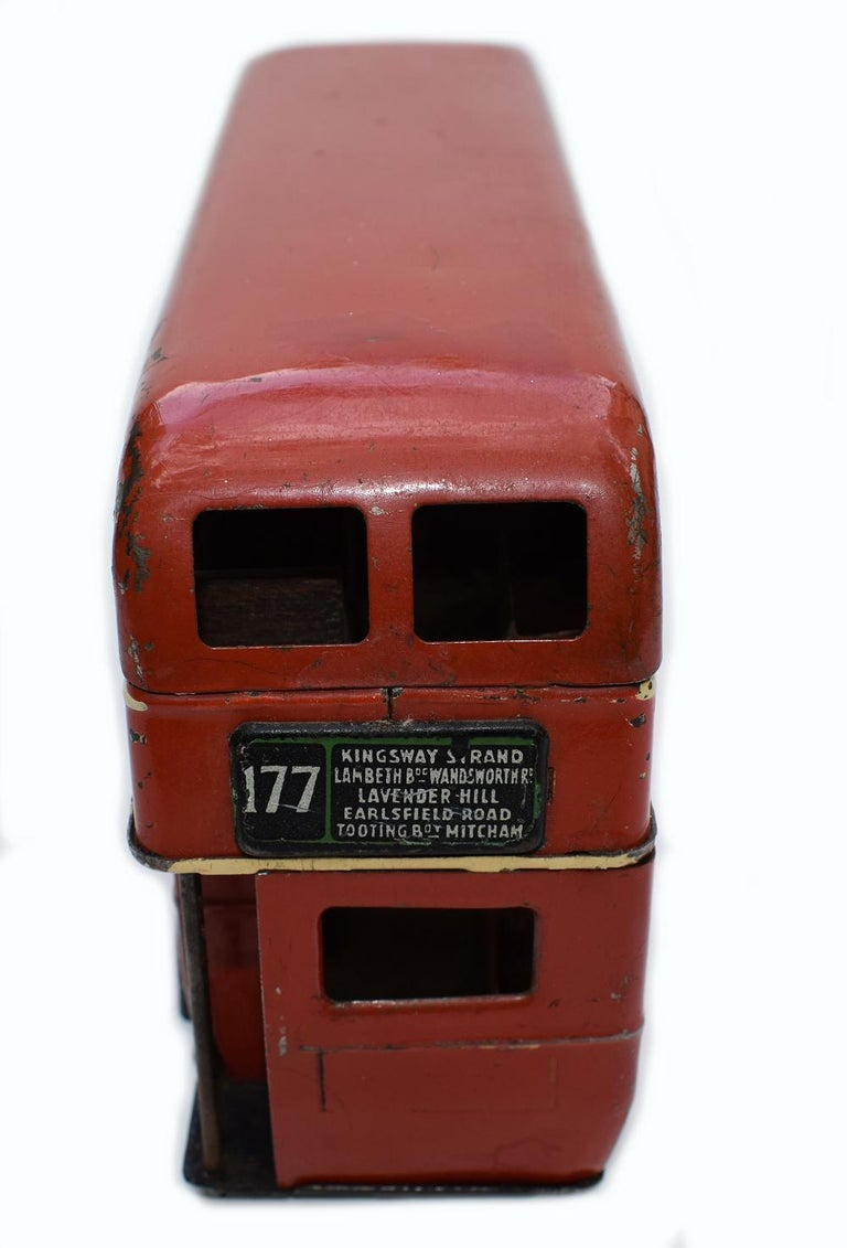 Original 1950s Double Decker London Toy Bus by Triang For Sale 3