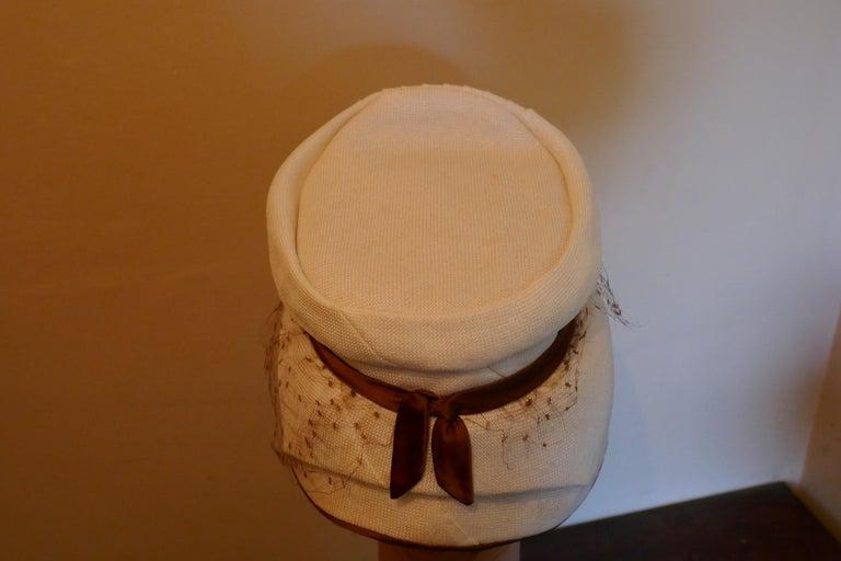 Women's Original 1950s Pill Box Hat by Condo Model For Sale
