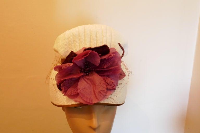 Original 1950s Pill Box Hat by Condo Model For Sale 2