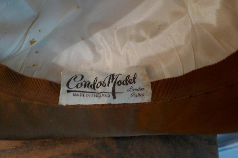 Original 1950s Pill Box Hat by Condo Model For Sale 3