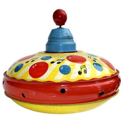 Original 1950s Spinning Top Toy by Triang