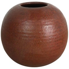 Original 1960 Ceramic Studio Pottery Vase by Piet Knepper for Mobach Netherlands