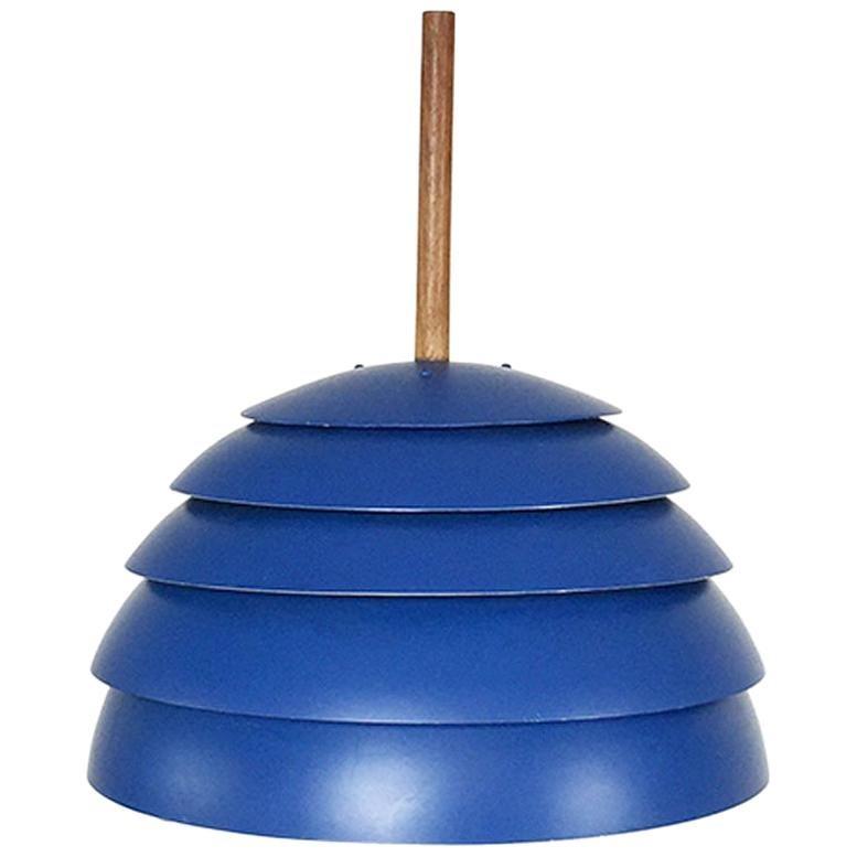 Original 1960s Blue Pendant Light by Hans-Agne Jakobsson, Markaryd, Sweden