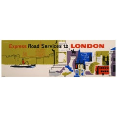 Original 1960's British Travel Panel Coach Poster, Studio Seven