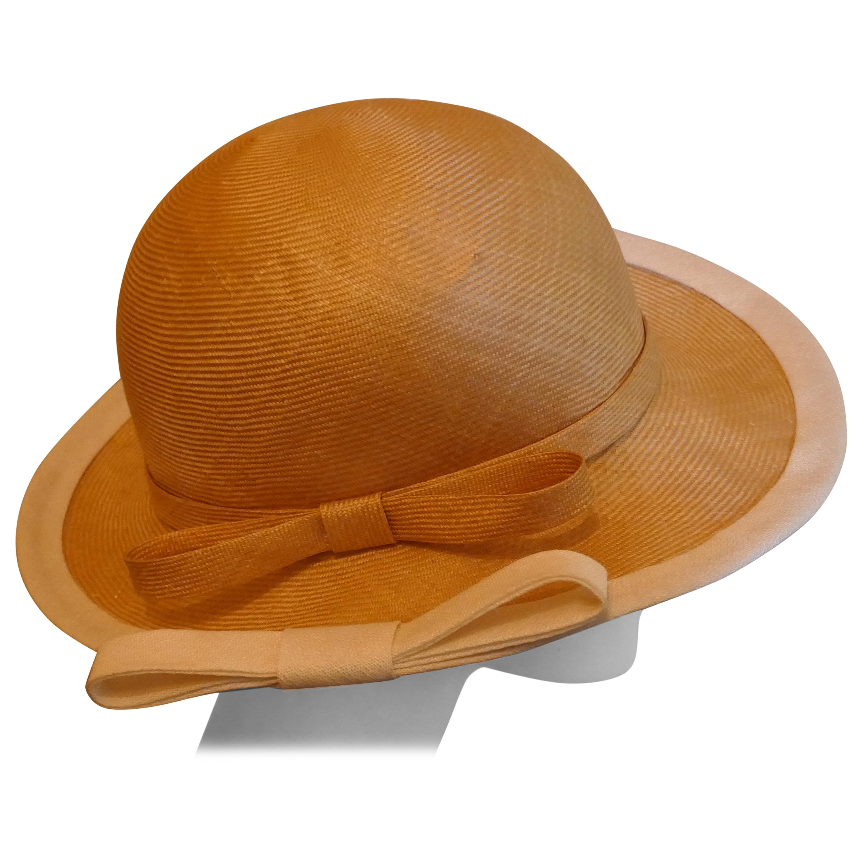 Original 1960s Designer Panama Style Hat, by Edna Wallace