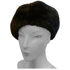 Original 1960s Fun Fur Beret Hat By Debenhams, Satin Lined