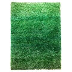 Original 1960s Green Rya Rug by Marianne Richter for Wahlbecks Ab, Sweden