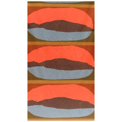 Original 1960s Hand Screen Printed Hull Traders Kaplan Fabric New and Unused