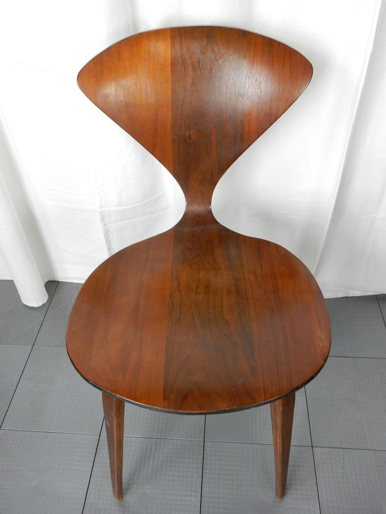 Plywood Original 1960s Plycraft Pretzel Side and Armchair by Norman Cherner For Sale