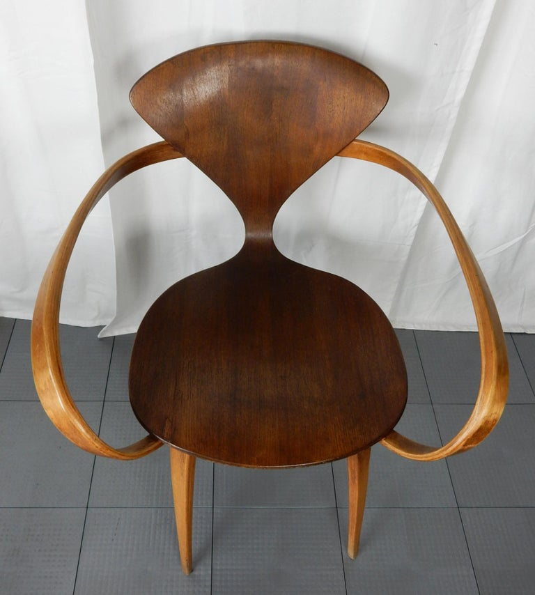 Original 1960s Plycraft Pretzel Side and Armchair by Norman Cherner For Sale 1