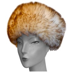 Original 1960s Sheepskin Cossack Style Winter Hat