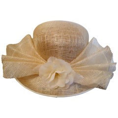 Original 1960s Straw Style Hat, Wimbledon, Garden Party