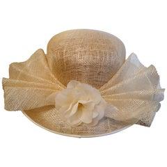 Original 1960s Straw Style Hat, Wimbledon, Garden Party