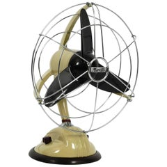 Original 1960s Streamline Table and Wall Fan by Marelli Mod. 304 Made in Italy