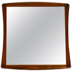 Original 1960s Teak Wall Mirror by Aksel Kjersgaard Made in Denmark