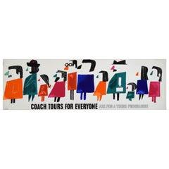 Original 1960s Travel Panel Coach Poster, Karo