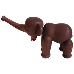 Original 1960s Vintage Kay Bojesen Oak Elephant Danish