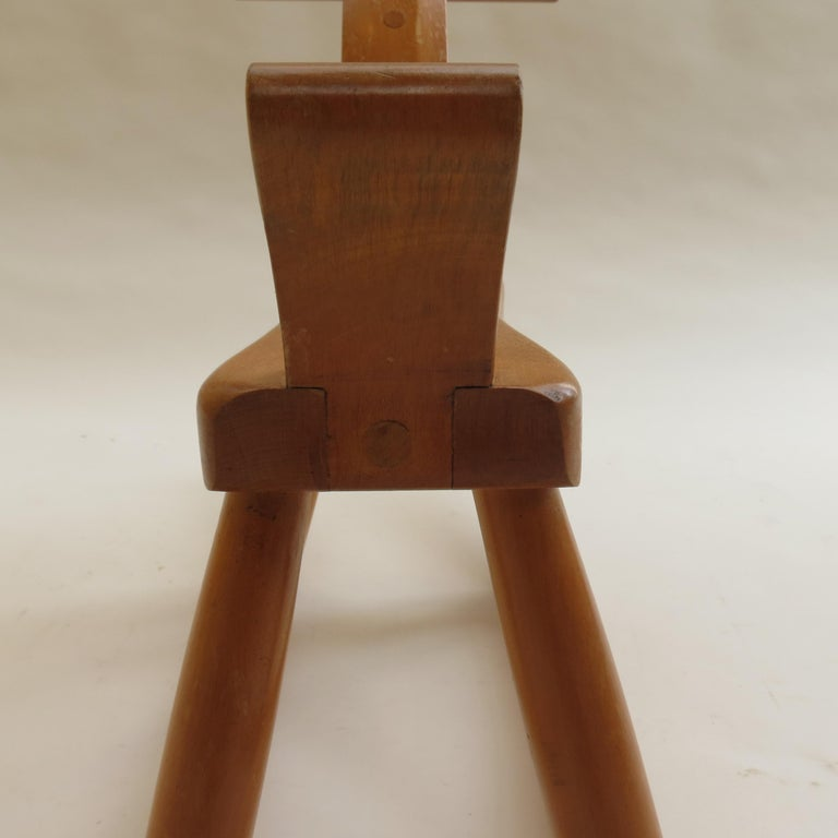 Original vintage Kay Bojesen rocking horse. 1960s edition, made from solid Beech with a lacquered finish. Stamped to underside Kay Bojesen, Denmark.