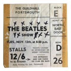 Original 1963 Beatles Concert Ticket