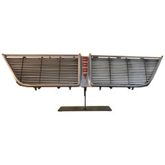Original 1964 New Yorker Car Grill on Display