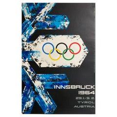 Original 1964 Olympic Travel Ski Poster Austria, Jaruska