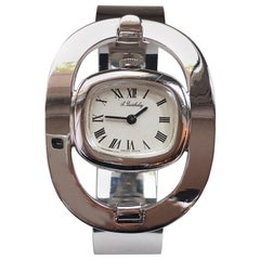 Original 1969 Alexis Barthelay Hand-Wound Movement Sterling Silver Watch
