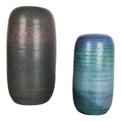 Original 1970 Ceramic Studio Pottery Vase by Piet Knepper for Mobach Netherlands